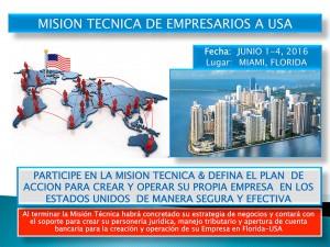 Misión Técnica de Empresarios a USA